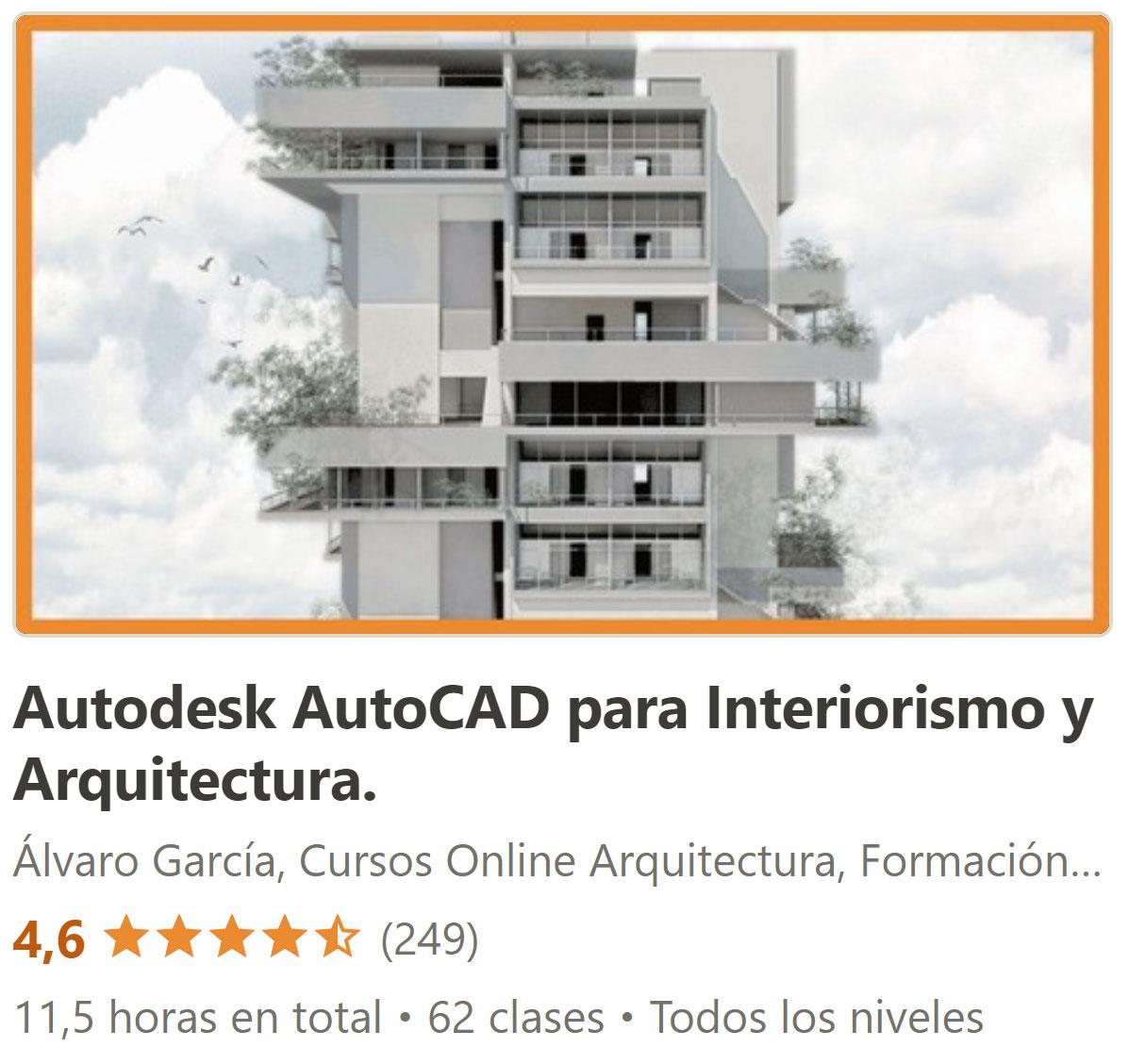 Curso Autocad para decoradores interioristas arquitectos