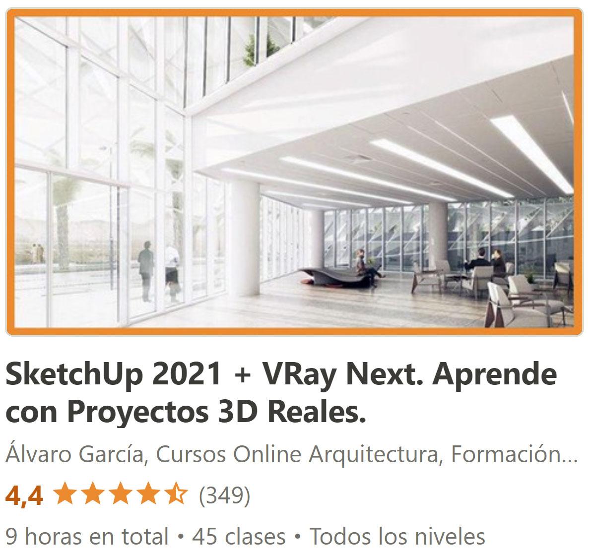 SketchUP y Vray Next Aprende con Proyecto 3d Reales